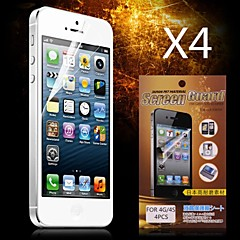 Protective HD Screen Protector for iPhone 4/4S(4PCS)