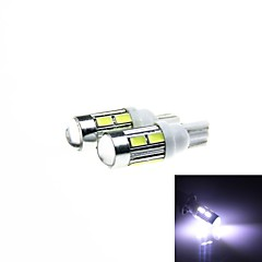 T10 5W 450lm 10-SMD 5630 LED White  Light Car Clearance / Signal Lamps (DC 12V /2PCS)