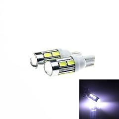 t10 5w 450lm 10-SMD 5630 llevó blanco despeje coche luz / luces de señalización (12v dc / 2pcs)
