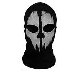 Mask Ghost Festival/Holiday Halloween Costumes Black Print Mask Halloween Unisex