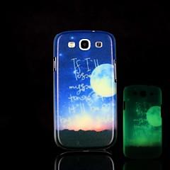 Zwrot wzór blask w ciemności twardym etui do Samsung Galaxy S3 i9300