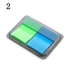 autocollante note boîte de papier à en-portable (couleur aléatoire)