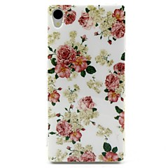 White Flowers Pattern TPU Soft Cover for Sony Xperia Z3