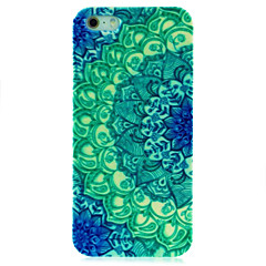 vert étui rigide de motif de mandala pour l'iPhone 5 / 5s