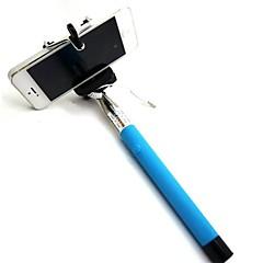 df kabel tage pole udvides selfie håndholdt monopod stick holder til iPhone 5 / 5s / 6 (assorterede farver)