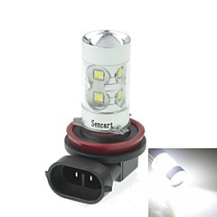 H8  PGJ191 50W 10xCREE Cold White 3100LM 6500K for Car Fog Light (AC/DC12V-24)