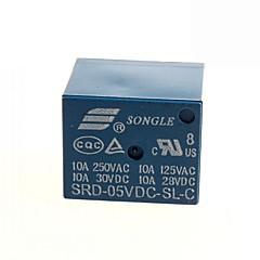 5V DC SONGLE Power Relay SRD-5VDC-SL-C  (2PCS)