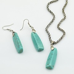 Jewelry Necklaces Earrings Party Daily Alloy Gem Women Green Wedding Gifts