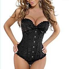 Hot Noblewoman Polyester Embroidery Ruffles Classice Lolita Corset