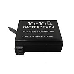 yi-yi ™ ahdbt-401 høy kapasitet 1280mah li-ion batteri for GoPro hero4