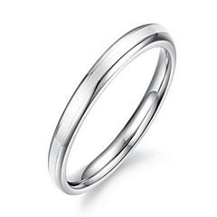 anelli a fascia di titanio acciaio argento delle donne di modo (1 pc)