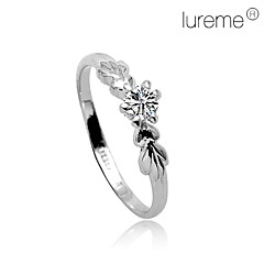 Lureme®Two Fish Together Crystal Ring
