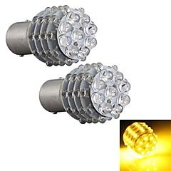 2 stuks auto 1157 BA15s richtingaanwijzer parkeerplaats staart lamp lamp geel 45 led licht 12v