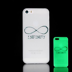 Phrase Pattern Glow in the Dark Hard Case for iPhone 4/4S