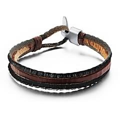 moda homens multicamadas pulseira de couro