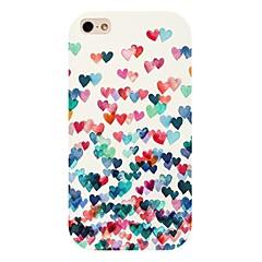 colorati cuore del modello di caso per iPhone 4 / 4S