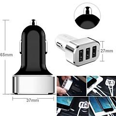 3-usb adaptador de corriente encendedor de cigarrillos del automóvil para los teléfonos inteligentes y las pestañas (samsung s2 / s3 / S4 / S5 /