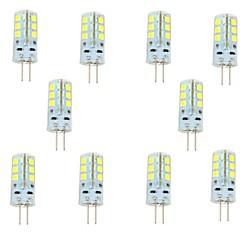 Luces de Doble Pin G4 3 W 24 SMD 2835 270 LM Blanco Cálido/Blanco Fresco DC 12 V 10 piezas