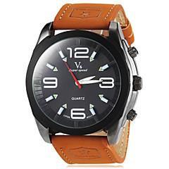 la montre ronde cadran couleur kaki militaire pu poignet bande de quartz des hommes (couleurs assorties)