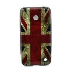 Mert Nokia tok Minta Case Hátlap Case Zászló Puha TPU Nokia Nokia Lumia 630