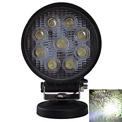 DIY IP67 Waterproof 27W 2150lm 6000K White Light Flood Beam LED Car Modification Light(without Holder)