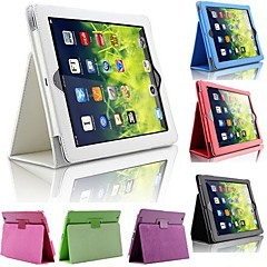 DF Solid Color Full Body PU Leather Case with Stand for iPad Air