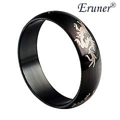 anello d'acciaio di titanio del drago modello di eruner®men