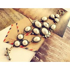 Fashion Korean-Style Golden Alloy Charm Bracelet(1pc)