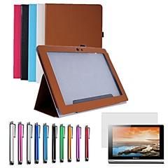 """dobrável pu capa de couro caso representam 10,1 """"lenovo tablet S6000-hfg + caneta + filme (cores sortidas)"""