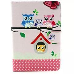 Owl Pattern PU leather Cases for  iPad mini 1/2/3