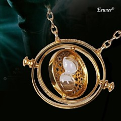 Eruner® Time Turner Hourglass Necklace New Fashion 2015 Punk Spins Gold Lover's Jewelry