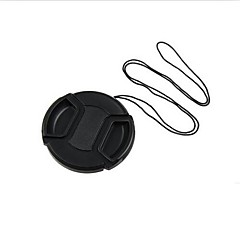 62mm Center Release Lens Cap Holder Leash Strap  +Cleaning Cloth