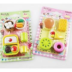 Food Design Eraser Set(Random Color)