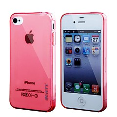 Leiers™Thin Ice Tpu Case Transparent Skin Back Cover Durable TPU Clear Soft Case for iPhone 4/4S(Assorted Color)