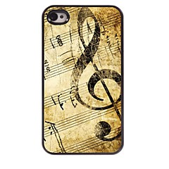 Retro Design Music Pattern Aluminum Hard Case for iPhone 4/4S