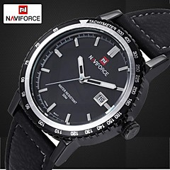 Men's Watch Leather Strap Quartz Wrist Watch Waterproof Men Sports Military Watches (Assorted Colors)