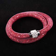 Hot sale Mesh Double Stardust Bracelets With Crystal Stones Filled Magnetic Clasp Charm Bracelets Bang Christmas Gifts