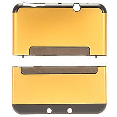 aluminio& protector de cáscara de la cubierta de plástico duro caso de la piel para Nintendo nueva consola 3dsll