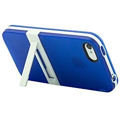 créative retour TPU cas avec Stand pour iPhone 4 / 4s (couleurs assorties)