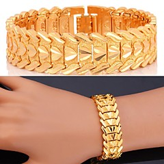 U7®Love Bracelet 18K Real Gold Platinum Plate Luxurious Chunky Bracelet Bangle Fashion Jewelry for Men/Women