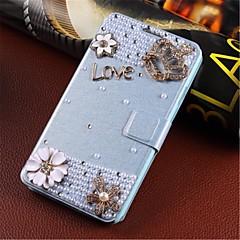 vind-indusert håndlaget diamant utseende flip telefonen sett er egnet for samsung s5 / i9600 gm