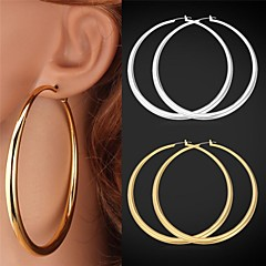 U7®Big Hoop Earrings 18K Gold Platinum Plated Vintege Earrings for Women
