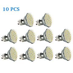 3W GU10 LED-spotlys 60 SMD 3528 240 lm Varm hvid Kold hvid Vekselstrøm 220-240 V 10 stk.