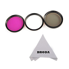 58mm 3 piece filter kit (UV-CPL-FLD) + pudseklud