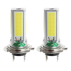 Zweihnder H7 24W 2300lm 6000-6500K 4xCOB LED White Light Bulb for Car Foglight (12-24V,2 Pieces)