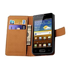 Genuine Leather Wallet Style Case for Samsung Galaxy S Advance i9070 (Assorted Colors)