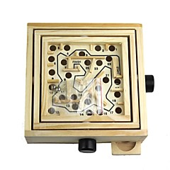 Skill Wood Education Bead Rolling Maze Puzzle Game
