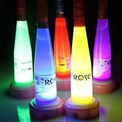 vinflaske førte nat lys lampe (tilfældig farve)