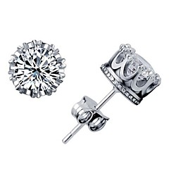 Women's Crown Stud Earrings
