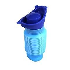 bærbar mini utendørs reise nødsituasjon uttrekkbar mobile toalett urinal - blå